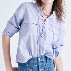 Madewell Terrace Lace-Up Shirt
